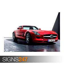Mercedes BENZ SLS (0786) cartel de auto-foto arte cartel impresión A0 A1 A2 A3 A4