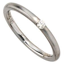 Anillo Soltero Mujer Diamante Brillante 950 Platino Mates DE sencillo