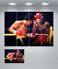 Rocky Balboa vs Apollo Creed Boxing Giant Wall Art poster Print