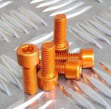M8 X 20mm Perno Acabado industrial pátina de aluminio anodizado naranja efecto especial