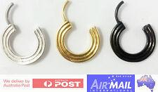 16g Concentric Shield Scyllic Septum Ring Jewellery Gold Silver Black