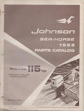 1969 JOHNSON OUTBOARD SEAHORSE 115 HP PARTS MANUAL