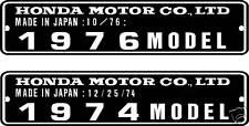HONDA Z50 1974-1976 MODEL HEADTUBE TAG / FRAME REPRO