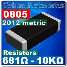 0805 ( 2012  Metric ) SMD / SMT Resistors - 100pcs [ Range: 681 - 10K Ohm ]