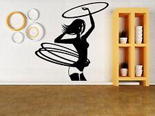 Wall Vinyl Sticker Decal Hula Hoop Girl Gymnastics Sports Fitness Gym (z3040)