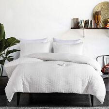 White Artware Quilt Duvet Cover Set King Queen Size Bedding Set Pillowcases