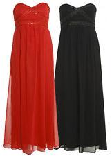 New Womens Plus Size Jewel Daimonte Chiffon Evening  Boob Maxi Dress 16-26