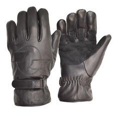 Goldtop Merino Wool Lined Black Leather Harley Cruiser Motorcycle Gloves