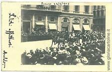 CARTOLINA d'Epoca:  FIRENZE Citta: VISITA REALE 1903