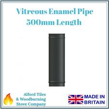 "500mm Vitreous Enamel Flue Pipe 5"" and 6"" - Multi Fuel Stoves"
