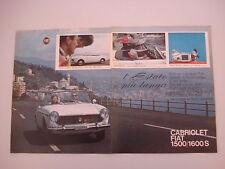 advertising Pubblicità 1965 FIAT 1500/1600 S CABRIOLET