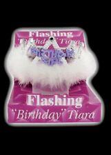 Lampeggiante Compleanno Tiare Crown Donna Ragazze con Piume e Marabou Trim