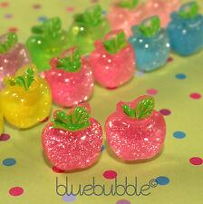 Funky Brillo Apple Aretes Cute Kitsch divertido Jelly Estilo Cool Retro Dulce Kawaii