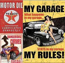 Signe garage tool box man cave Aimant Réfrigérateur Rétro Vintage Signe Rétro Homme Cadeau