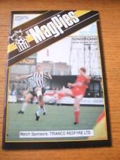 11/12/1990 Notts County V Sunderland [ZENITH Data PIU