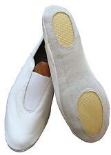 Leather Scarpe da Ginnastica Allenamento Danza Bianco o Nero Vestimenta tutte le taglie