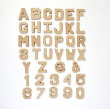 Papier Papel Maché grandes y pequeñas letras / números 20,5 Cm Y 10 Cm Cartón Artesanales
