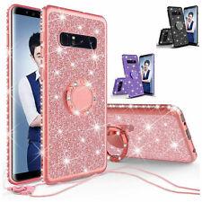 For Samsung Galaxy S10 S10e S10 Plus Case Rhinestone Glitter Bling Ring Cover