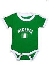 Nigeria World Cup Baby Bodysuit Soccer Football Jersey Tshirt Flag Cotton Dressy