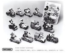 """Matchbox Pressefoto USA 1-75 Matchbox """"Walt Disney"""" Serie 1980"""