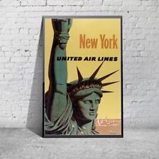 Vintage Nueva York las compañías aéreas de viajes impresión Poster Foto A3 A4