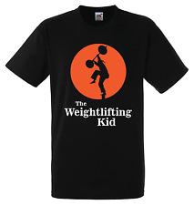 THE WEIGHTLIFTING KID T-shirt - Karate Kid parody M & F - Eleiko Olympic Klokov