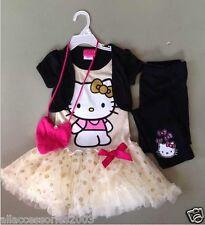 New Hello Kittty Tutu Dress Set Top + Pants RRP$30 SZ 4-7