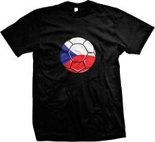 Czech Republic Flag Soccer Ball Ceská Fotbalová Reprezentace Pride Mens T-shirt