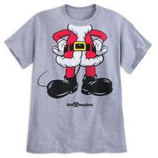 Disney Store mickey Mouse Traje de Santa Camiseta para Hombre Talla S Walt World
