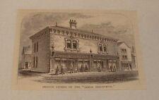 1876 magazine engraving ~ BRANCH STORES OF 'LEEDS INDUSTRIAL' UK
