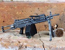 MK46 Mod 0 1:6 Figure Para Stock Military M249 Light Machine Gun Model MK46_A
