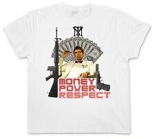Money Power Respect II T-SHIRT-Tony al. SCARFACE Montana TM Al Pacino mafia maglietta