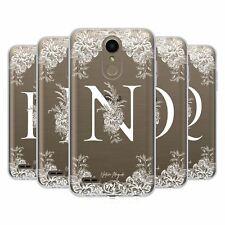 OFFICIAL NATURE MAGICK WHITE FLORAL MONOGRAM 2 SOFT GEL CASE FOR LG PHONES 1