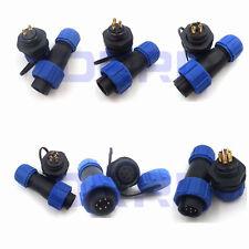 SP17 IP68 2 3 4 5 6 7 8 9Pin Waterproof Plug Socket Connectors Industrial Cable