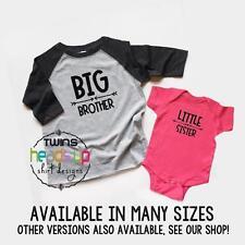 Big Brother/Little Sister Shirts Toddler Big Bro/Baby Little Sis Raglan Siblings