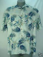 """Mens Small Quiksilver""""Costa Azul""""Blue Rayon Dress Shirt"""