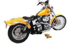 Chrome Wyatt Gatling 2 into 1 Exhaust Pipe Header Kit,for Harley Davidson mot...