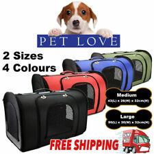 Pet Carry Travel Cage Carrier Bag Dog Cat Rabbit Foldable Portable Handbag Case