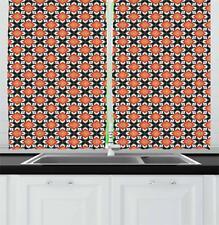 "Flower Corsage Kitchen Curtains 2 Panel Set Window Drapes 55"" X 39"""
