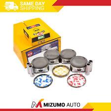 Pistons w/ Rings @STD fit 03-09 Mazda Ford Fusion Mercury Milan 2.3 LDURATEC