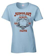 Junglist Ladies T-Shirt Rave Drum & Bass DJ Beats T-Shirt