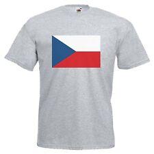 CZECH REPUBLIC FLAG EMBLEM T-SHIRT ALL SIZES & COLOURS
