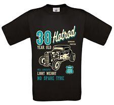 Divertido 30 AÑOS Hot Rod Retro Coche Personalizado Camiseta Hombre Top 30