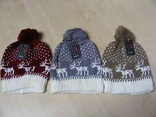Femmes Couleur Coloré Fairsle tricoté Bonnet tricot Taille Unique - Neuf