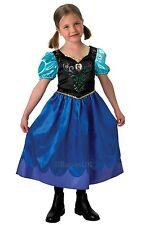 Classic Anna Principessa Disney congelato Abito Libro Settimana Bambine Costume Età 3 - 8