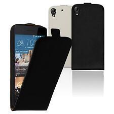 Artificial Leather Case for HTC Desire 728 - Flip-Case  + protective foils