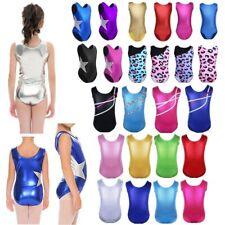 Girls Gymnastics Leotard Ballet Dancewear Kids Dance Dress Tank Unitards Costume