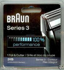 BRAUN 31S 5000/6000 CONTOUR FLEX Shaver/Razor Foil + Cutter!
