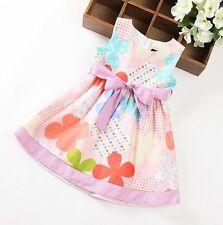 Festliches Baumwollkleid Mädchenkleid Sommerkleid Feier Weihnachten Gr. 98-122