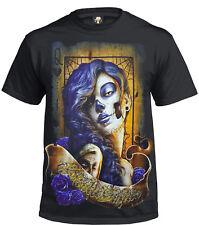 Camiseta De Azúcar Calavera/Tatuaje/MEXICANO/Azúcar Calavera/Muñeca/Biker/Goth/Rock/Regalo/Top/Camiseta